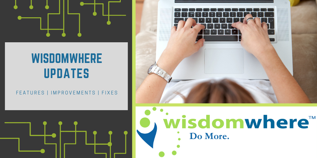 Wisdomwhere Updates - Oct 10, 2018